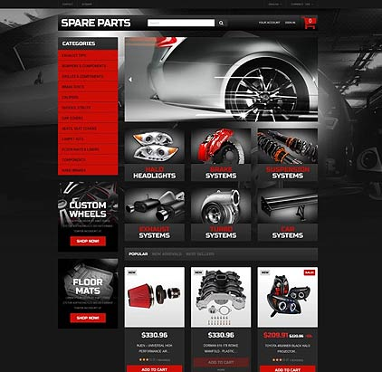 Automobile Replacement Parts PrestaShop template